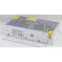 Блок питания для  светодиодных лент (20A 5V) LP-100 100W IP20 трансформатор