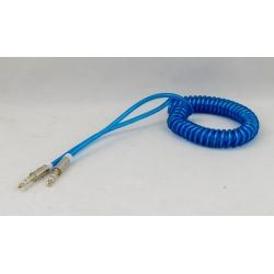 Шнур AUX (Джек 3,5 - Джек 3,5) 1м витой JD-64 синий