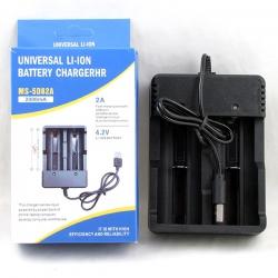 Зарядное устройство для 2 акк. 18650 H-391 (от USB)