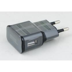 Сетевое зарядное устройство (USB разъем, без шн.) 5V 2A S-4 черный ??