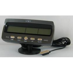 Часы автомобильные №7045V VST с улич. датчик темп.