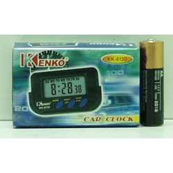 Часы автомобильные №613D NAKO (с будильн.)