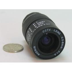 """Объектив FFZ-0358HL 1/3"""" 3.5-8mm F1.4 автод. больш"""