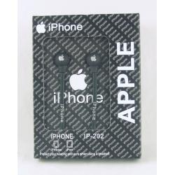 Наушники  с микроф. IPHONE IP-202 вакуум. в кор.