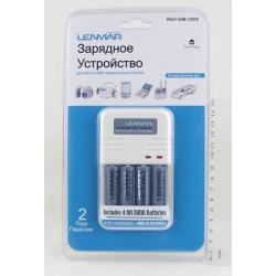Зарядное устройство Lenmar PRO-120R/220V (ЗУ + 4 акк, 2000мАч)